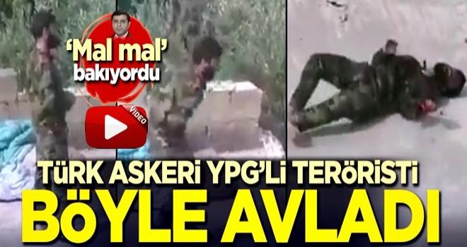 Türk askeri YPG'li teröristi böyle avladı