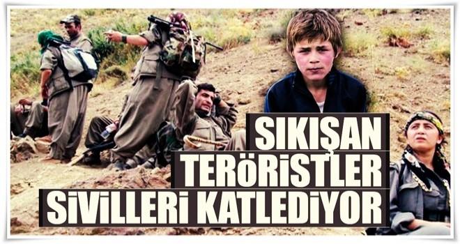 Sıkışan teröristler sivilleri katlediyor