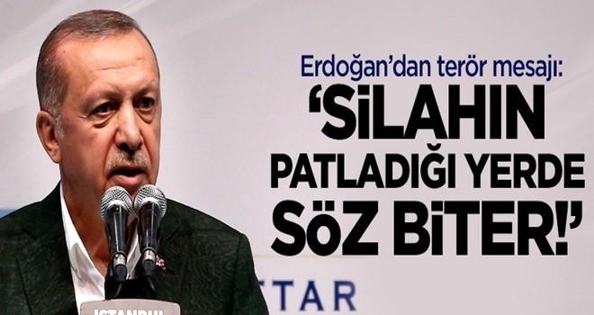 Erdoğan'dan terör mesajı: 'Silahın patladığı yerde söz biter!'