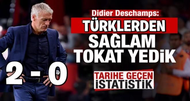 Deschamps: Türkiye'den sağlam bir tokat yedik