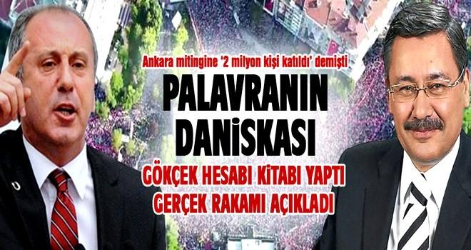 Muharrem İnce'nin Tandoğan'daki mitingine kaç kişi katıldı? Melih Gökçek açıkladı