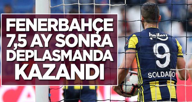 Fenerbahçe 7,5 ay sonra deplasmanda kazandı