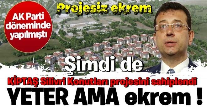 CHP'li ekrem, AK Parti döneminde yapılan KİPTAŞ Silivri Konutları projesini sahiplendi