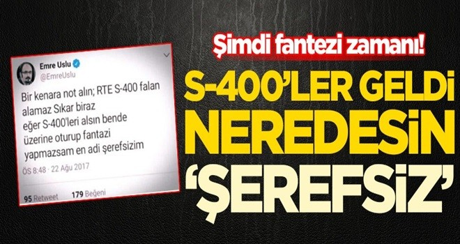 Gözler 'Türkiye S-400 alamaz' diyen FETÖ'cü Emre Uslu'ya çevrildi