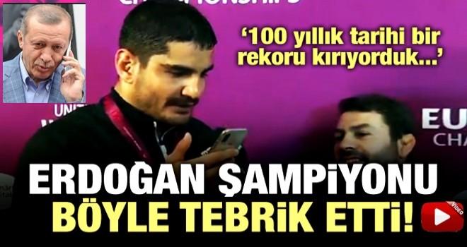 Cumhurbaşkanı Erdoğan, Taha Akgül'ü tebrik etti
