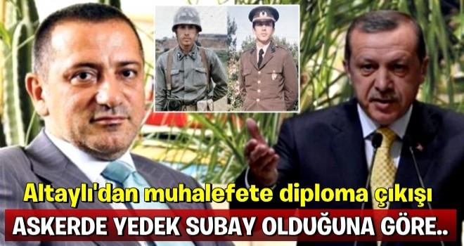 Fatih Altaylı'dan muhalefete diploma çıkışı