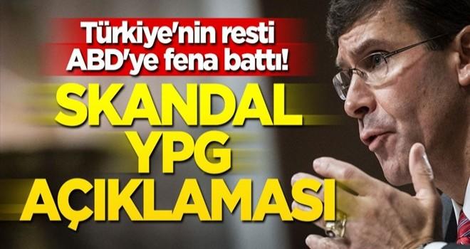 Türkiye'nin rest çekmesi ABD'ye fena battı! Skandal YPG açıklaması