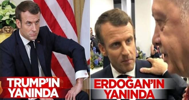 Başkan Erdoğan ile Macron'un fotoğrafı olay oldu!