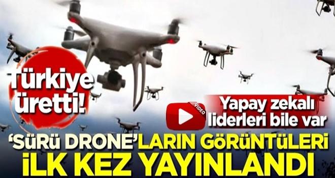 'Sürü drone'ların görüntüleri ilk kez yayınlandı!