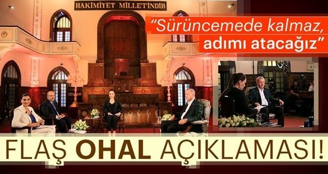 Cumhurbaşkanı Erdoğan: OHAL'in durumuna seçimden sonra bakacağız