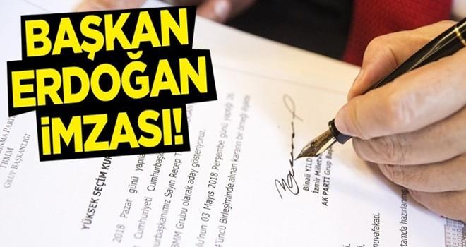 Başbakan'dan adayımız Erdoğan imzası!