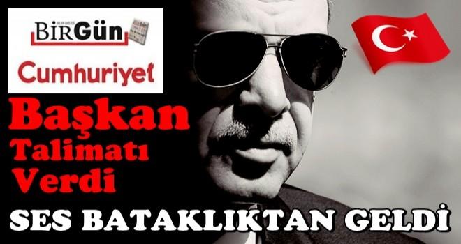 Başka Erdoğan talimatı verdi, ses bataklıktan geldi