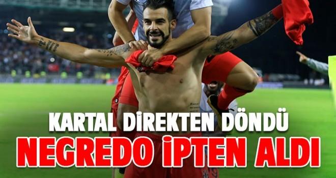 Negredo Kartal'ı ipten aldı! Beşiktaş tur atladı