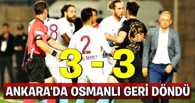 Osmanlıspor-Trabzonspor maç sonucu: 3-3