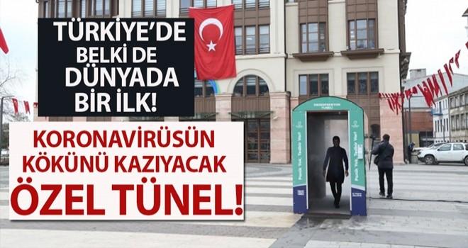 Türkiye'de bir ilk; dezenfeksiyon tüneli