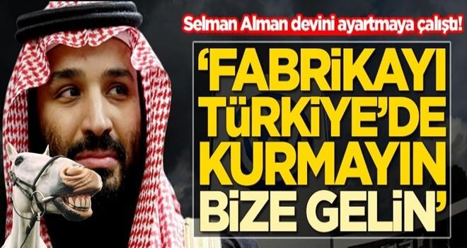 Selman Alman devini ayartmaya çalıştı: Fabrikayı Türkiye'de kurmayın