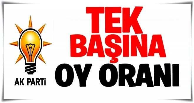 İşte AK Parti'nin tek başına oy oranı