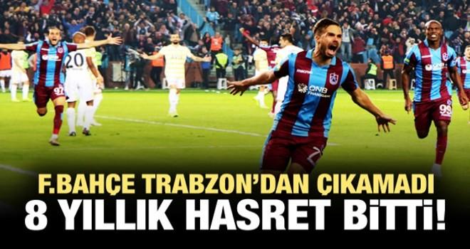 Trabzonspor fırtınası Fenerbahçe'yi esir aldı