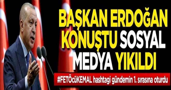 Cumhurbaşkanı Erdoğan'ın bugünkü tarihi konuşmasının ardından sosyal medya yıkıldı