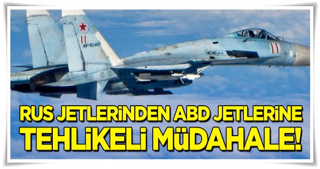 Rus uçaklarından ABD uçaklarına tehlikeli müdahale!