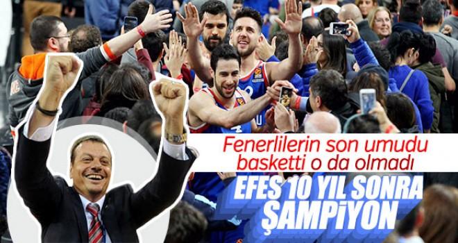 10 yıllık hasret sona erdi! Şampiyon Anadolu Efes