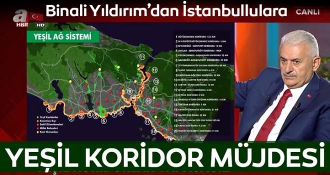 Binali Yıldırım'dan İstanbulluya yeşil alan müjdesi
