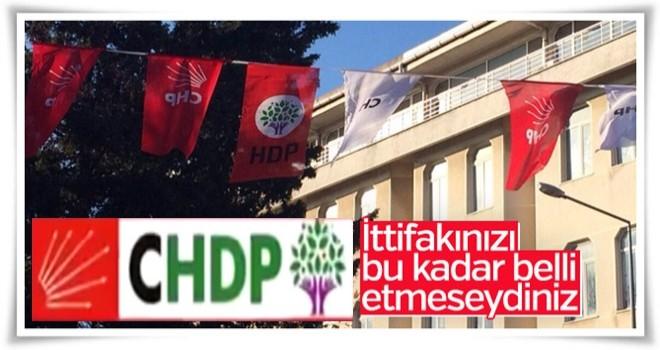 Malkara'da CHP ve HDP bayrağı yan yana görüntülendi