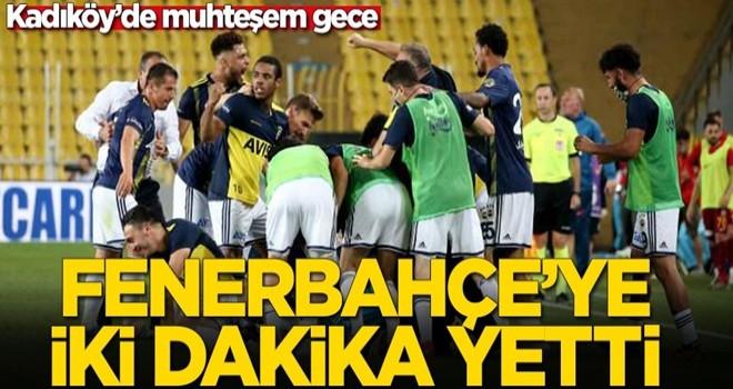 Fenerbahçe'den Kayserispor karşısında muhteşem dönüş