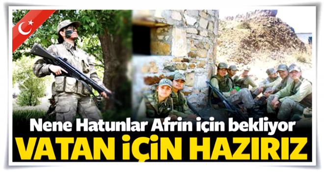 Nene Hatunlar Afrin için emir bekliyor: Hazırız...