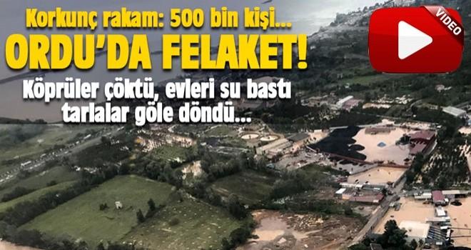 Ordu'daki sel 500 bin kişiyi vurdu; köprüler çöktü, yaralılar var