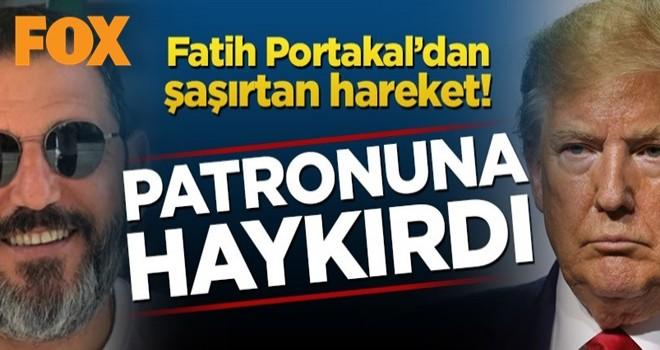Fatih Portakal'dan şaşırtan hareket! Donald Trump'a yüklendi