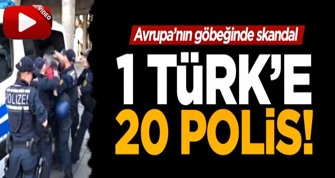 Teröristleri koruyan Alman polisi Türk'e saldırdı!