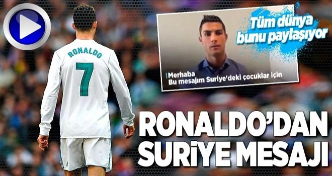 Cristiano Ronaldo'dan Suriye mesajı!