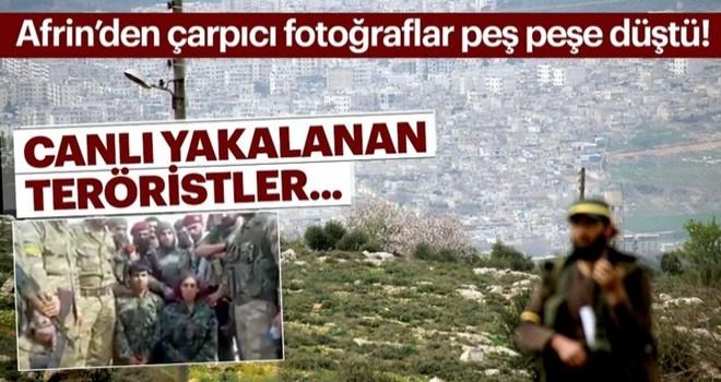 Afrin merkeze son adım! Son dakika fotoğraflar peş peşe düştü! Canlı yakalanan teröristler...