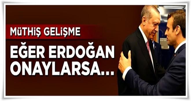 Erdoğan Fransa yolcusu! Eğer imzayı atarsa...