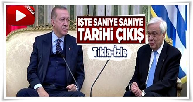 Erdoğan'ın Yunan Cumhurbaşkanı'na tarihi ayarı
