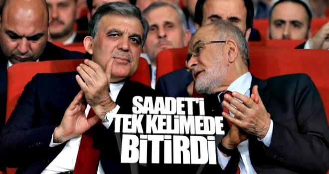 Abdullah Gül topu Saadet'e attı: Adaylığımı onlar istedi