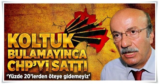 Mehmet Bekaroğlu CHP'den ümidini kesti