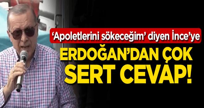 Erdoğan'dan İnce'ye Temel Paşa tepkisi!