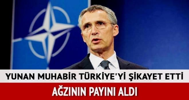 Yunan muhabirden Stoltenberg'e Türkiye şikayeti