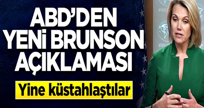 ABD'den küstah Brunson açıklaması: Hemen bırakılsın!