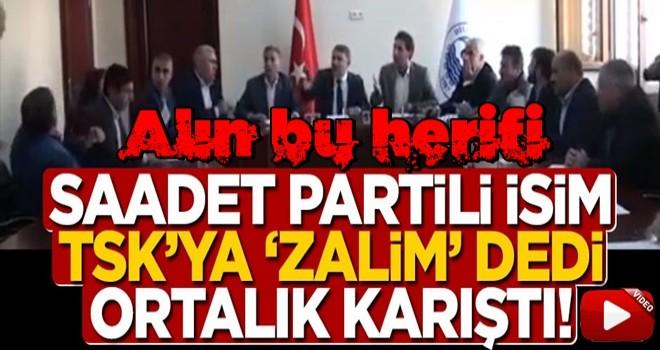 Saadet Partili meclis üyesi Metin Dalgalı, Barış Pınarı Harekatı nedeniyle TSK'ya