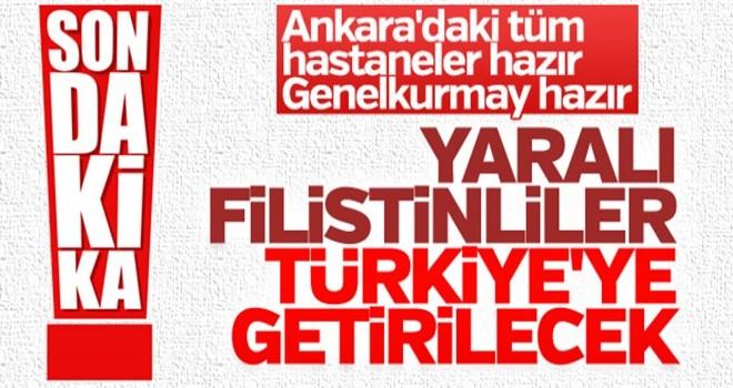 Gazze'deki yaralılar Türkiye'ye getirilecek