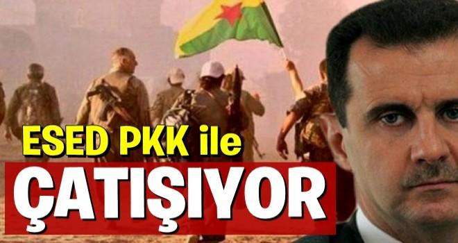 Esed ile PKK arasında çatışma başladı