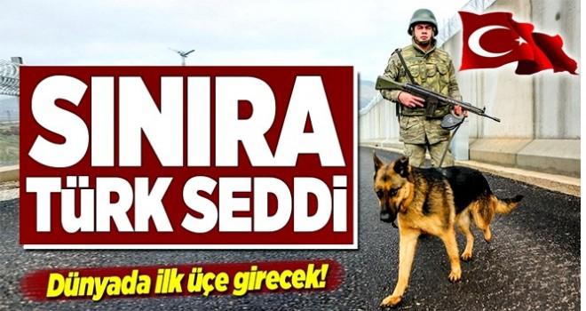 Suriye sınırına Türk Seddi... .