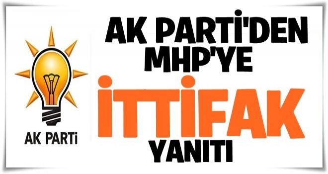 AK Parti'den MHP'ye ittifak yanıtı