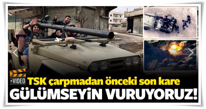 Türk füzeleri vurmadan önceki son kare!