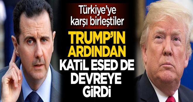Türkiye'ye karşı birleştiler! Trump'ın ardından katil Esed de devreye girdi