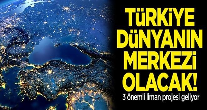 3 denizde 3 liman! Türkiye denizlerin hakimi oluyor