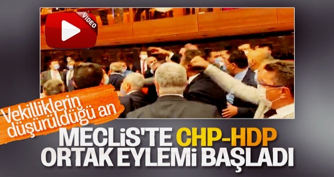 Meclis'te CHP ve HDP'den ortak protesto